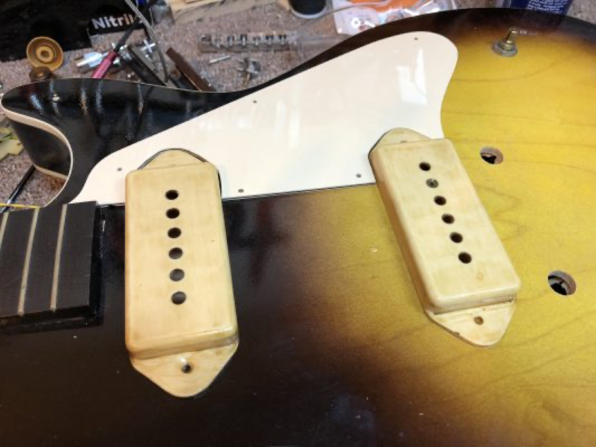 Aging the pickup covers