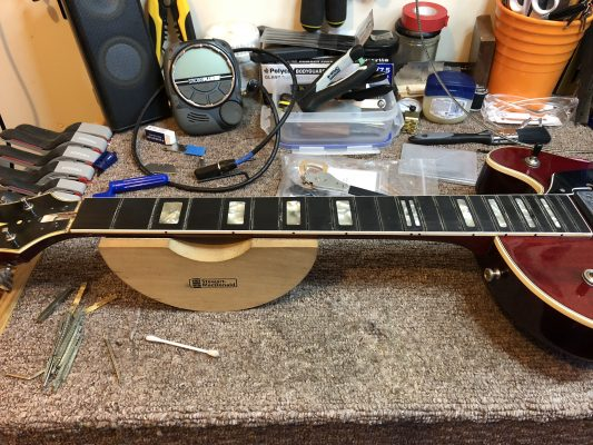 Removing the frets