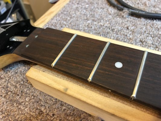 Fretboard Oiled and Conditioned