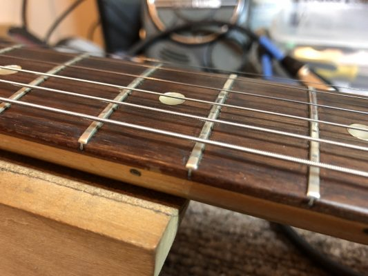 Frets are very flat and low