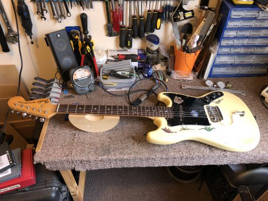 Guitar setup and ready to play