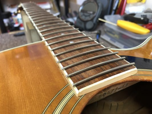 Rough cut frets