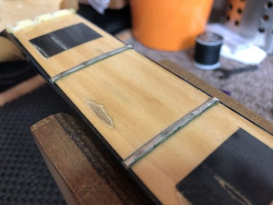 Heavily Pitted Frets, Warn Fret Board