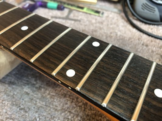 Oiled fretboard