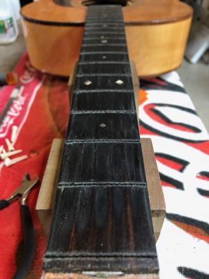 Frets removed