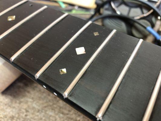 Finished fretboard detail