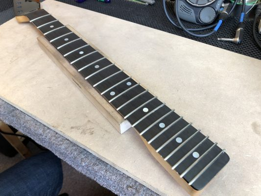 Fretted and ready for the end to be clipped