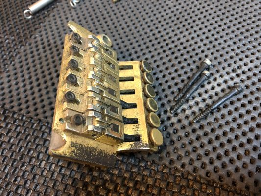 Stripping this well used Floyd Rose