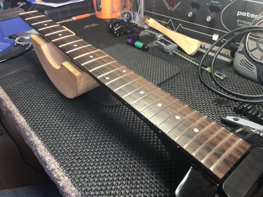 Fretboard in need of attention