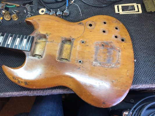 Stripping the guitar