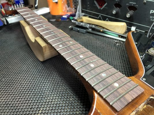 Fretted and trimmed