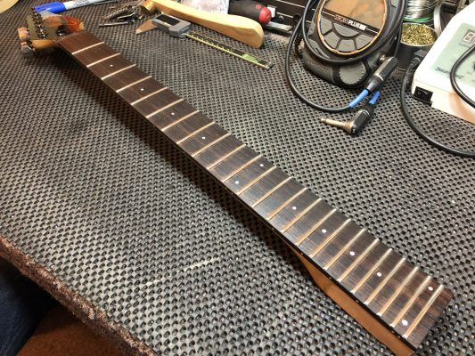Conditioned fretboard