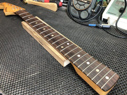 Frets ends tidied