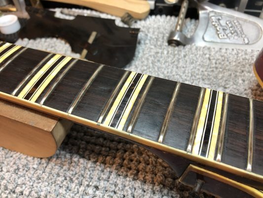 Polished frets - came up better than expected