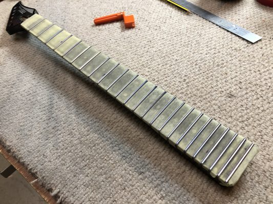 Levelling the frets