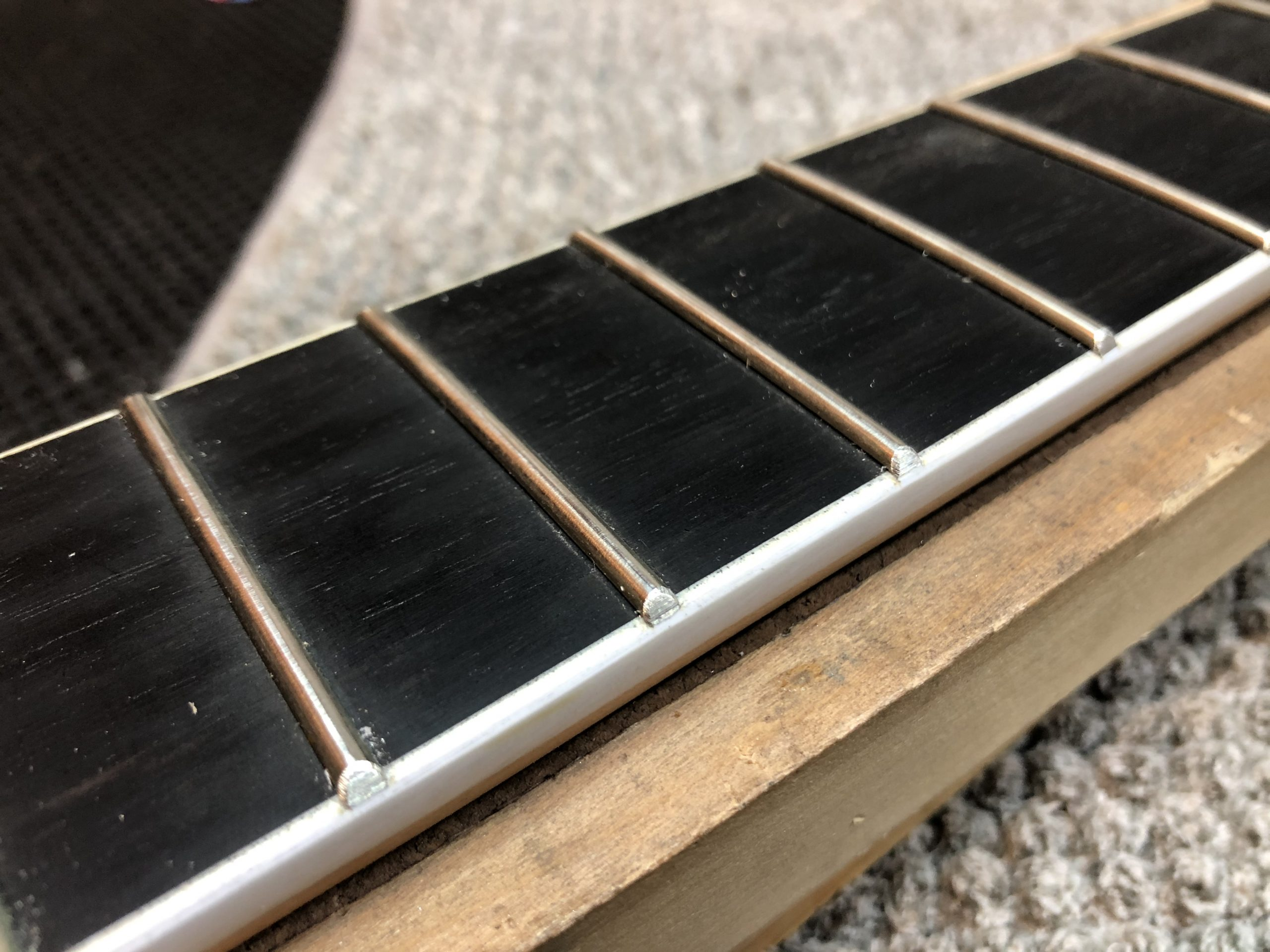 Redressing the fret ends