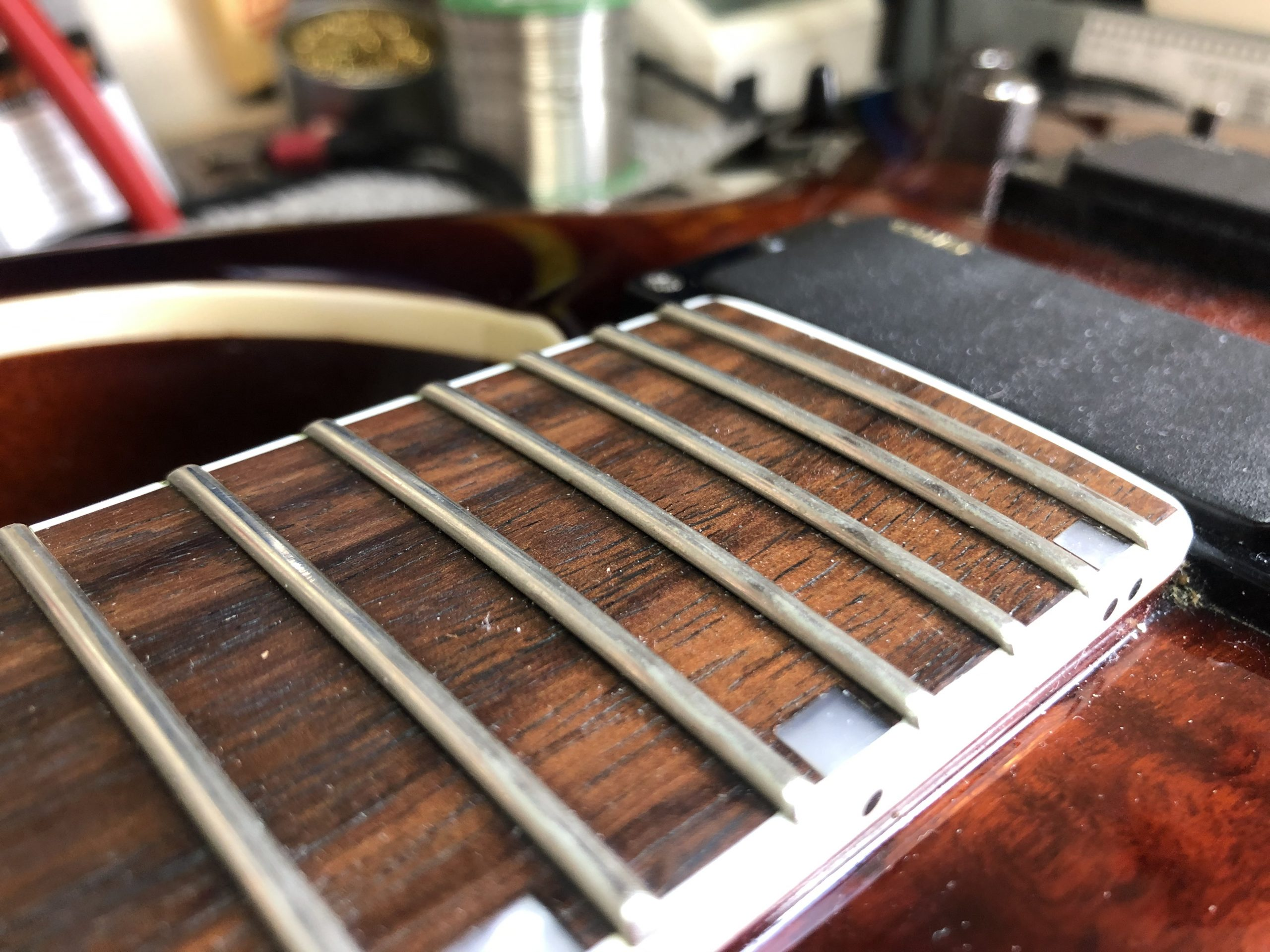 Some of the frets are high