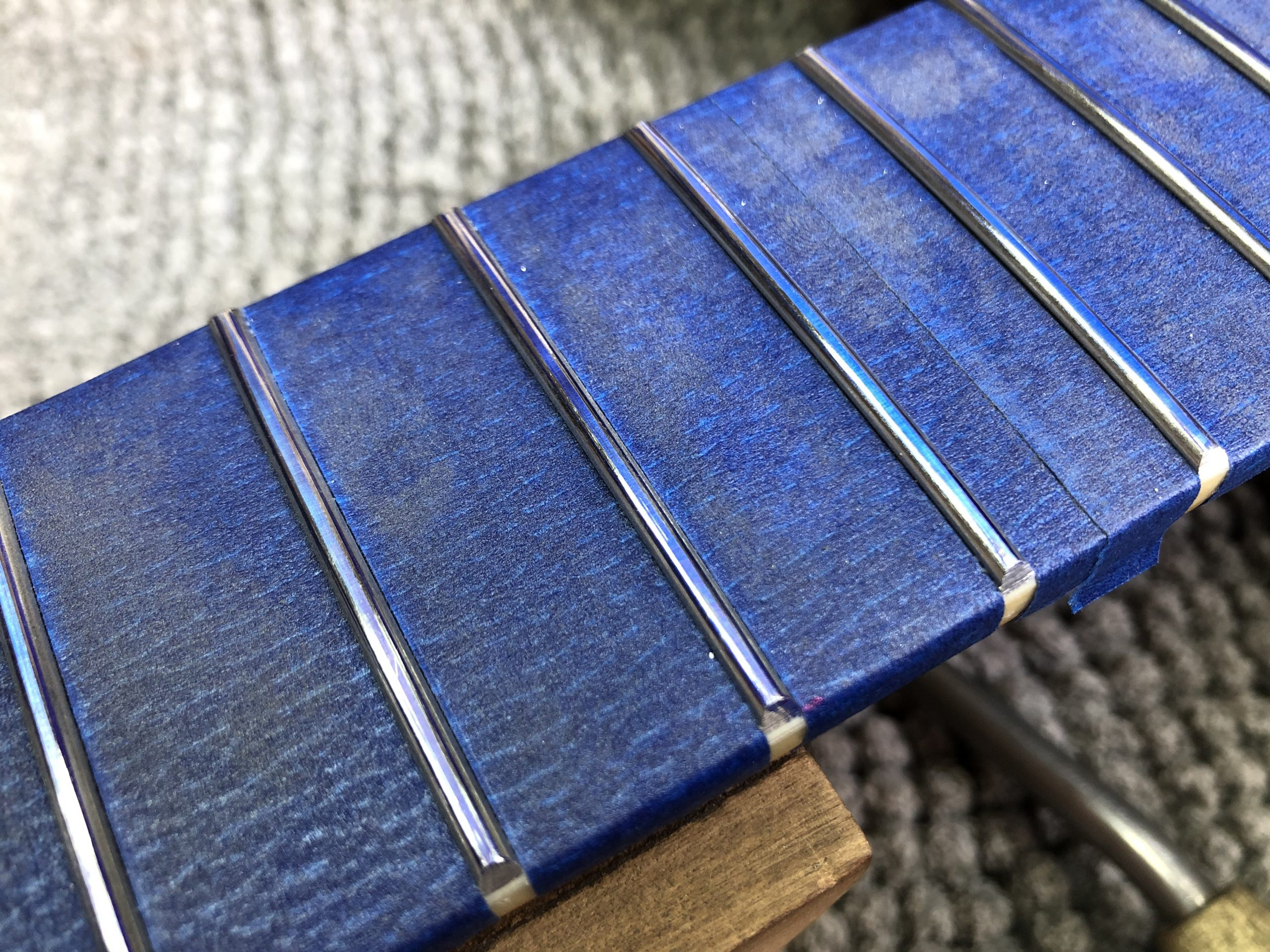 New frets crowned
