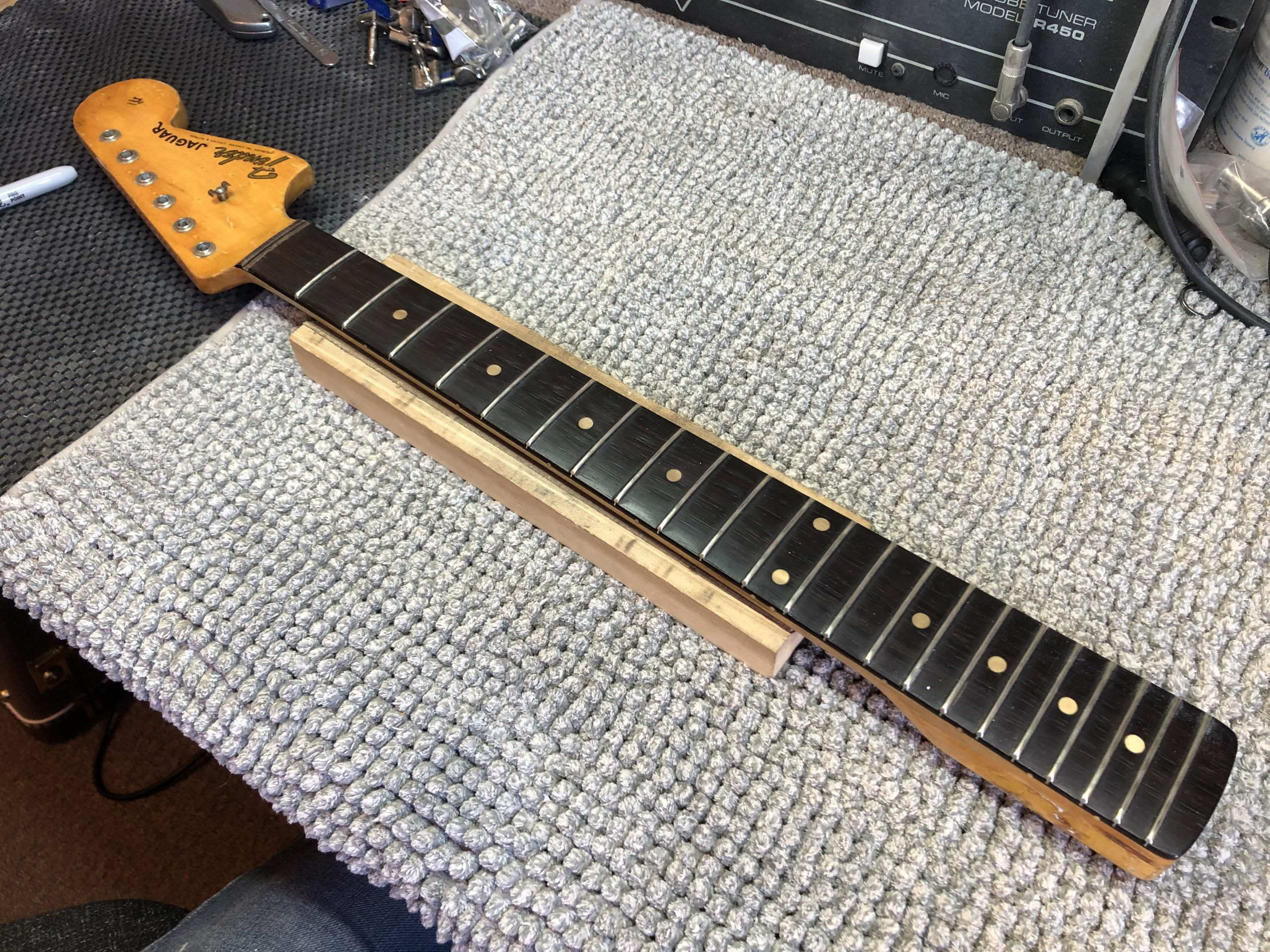 Ready to remove the frets