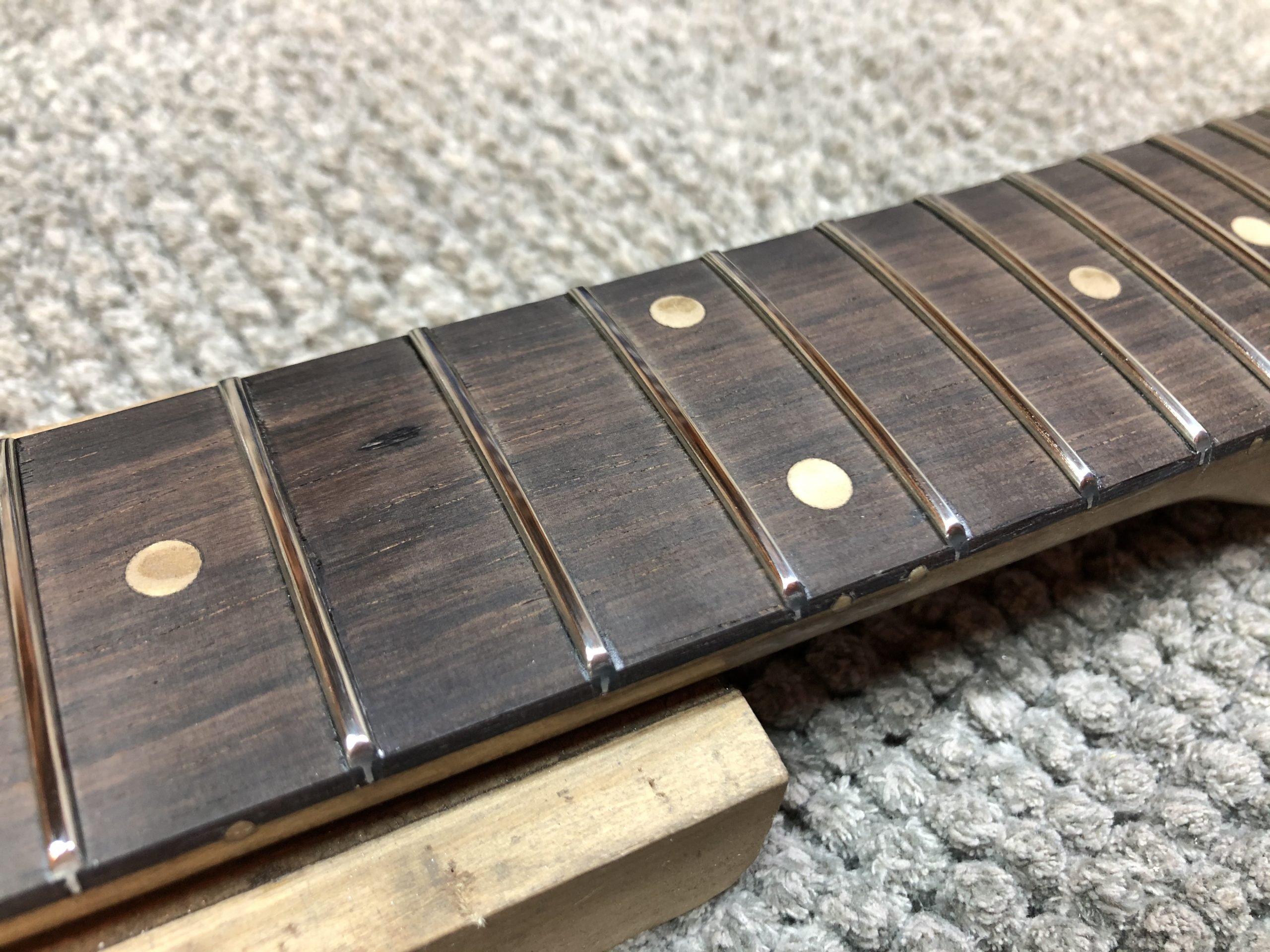 Dressed and polished frets