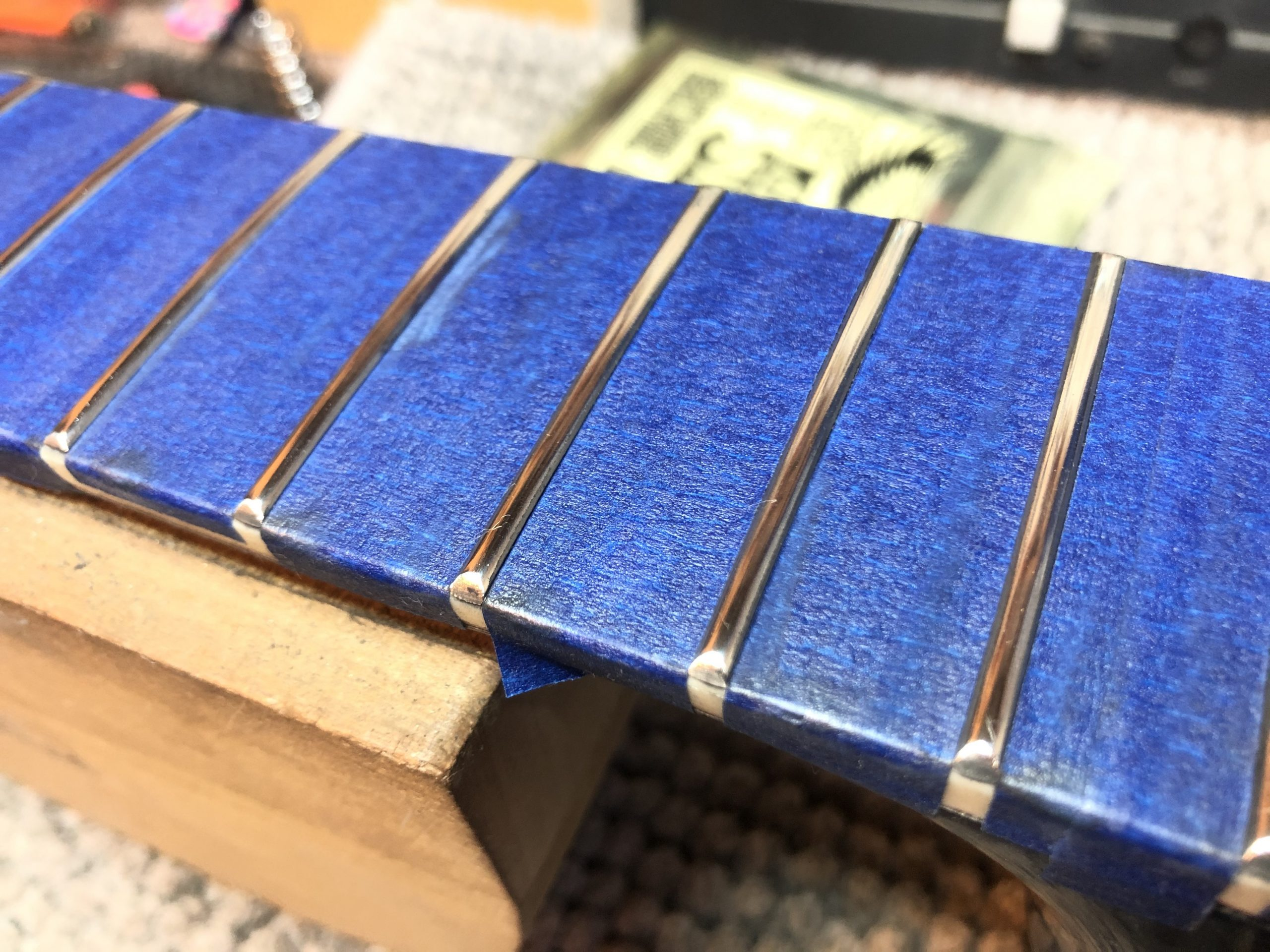 Levelled frets, now crowned and polished