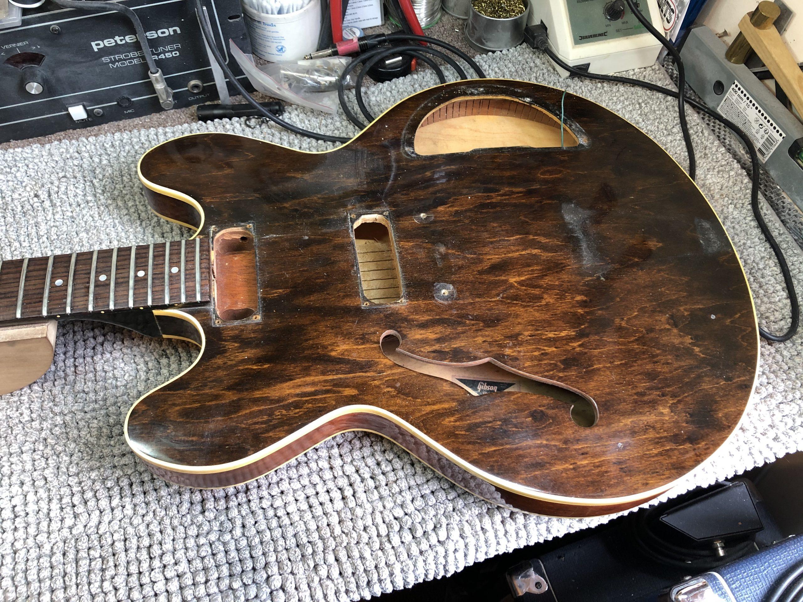 Stripped guitar