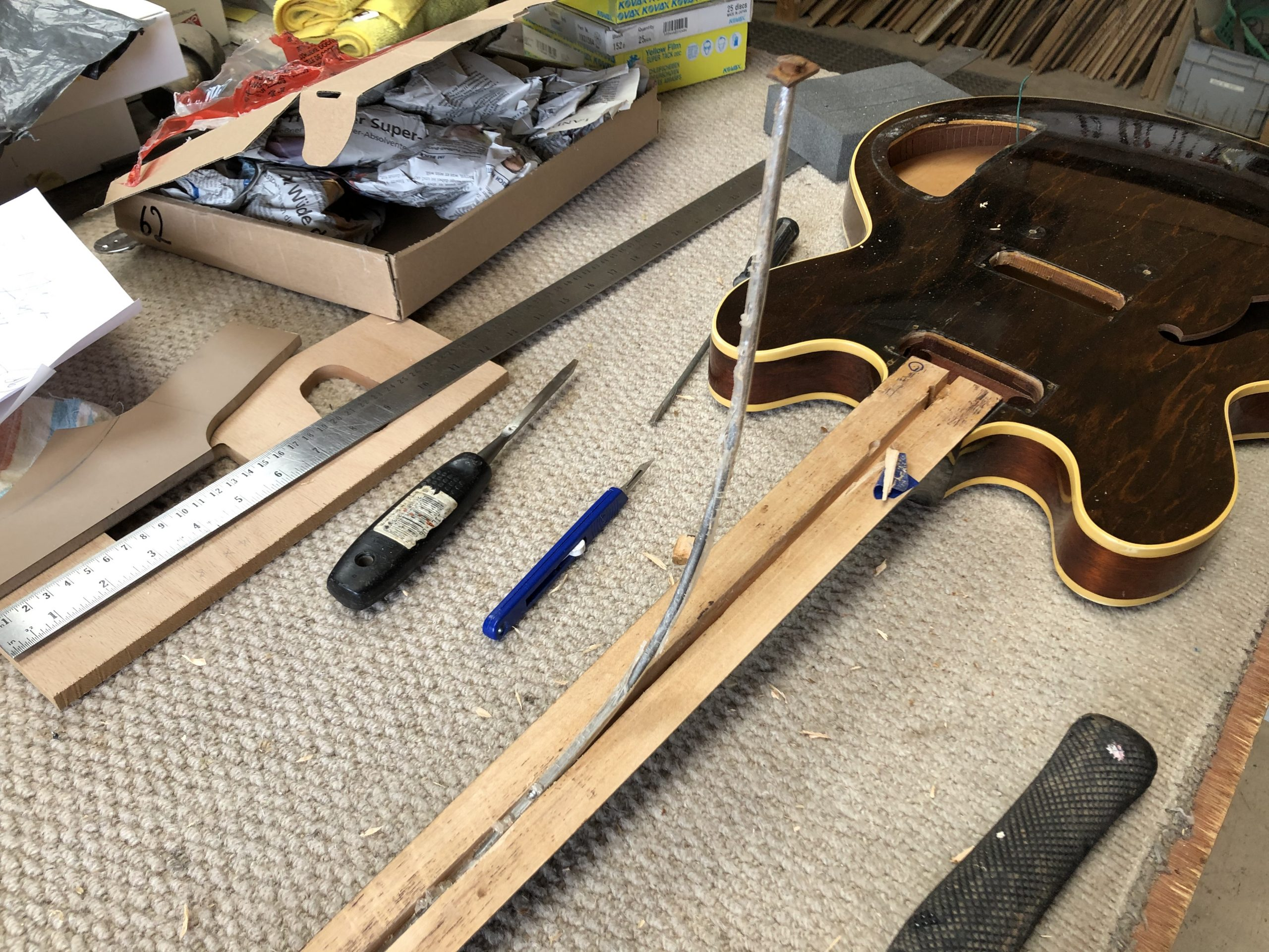 Digging out the truss rod