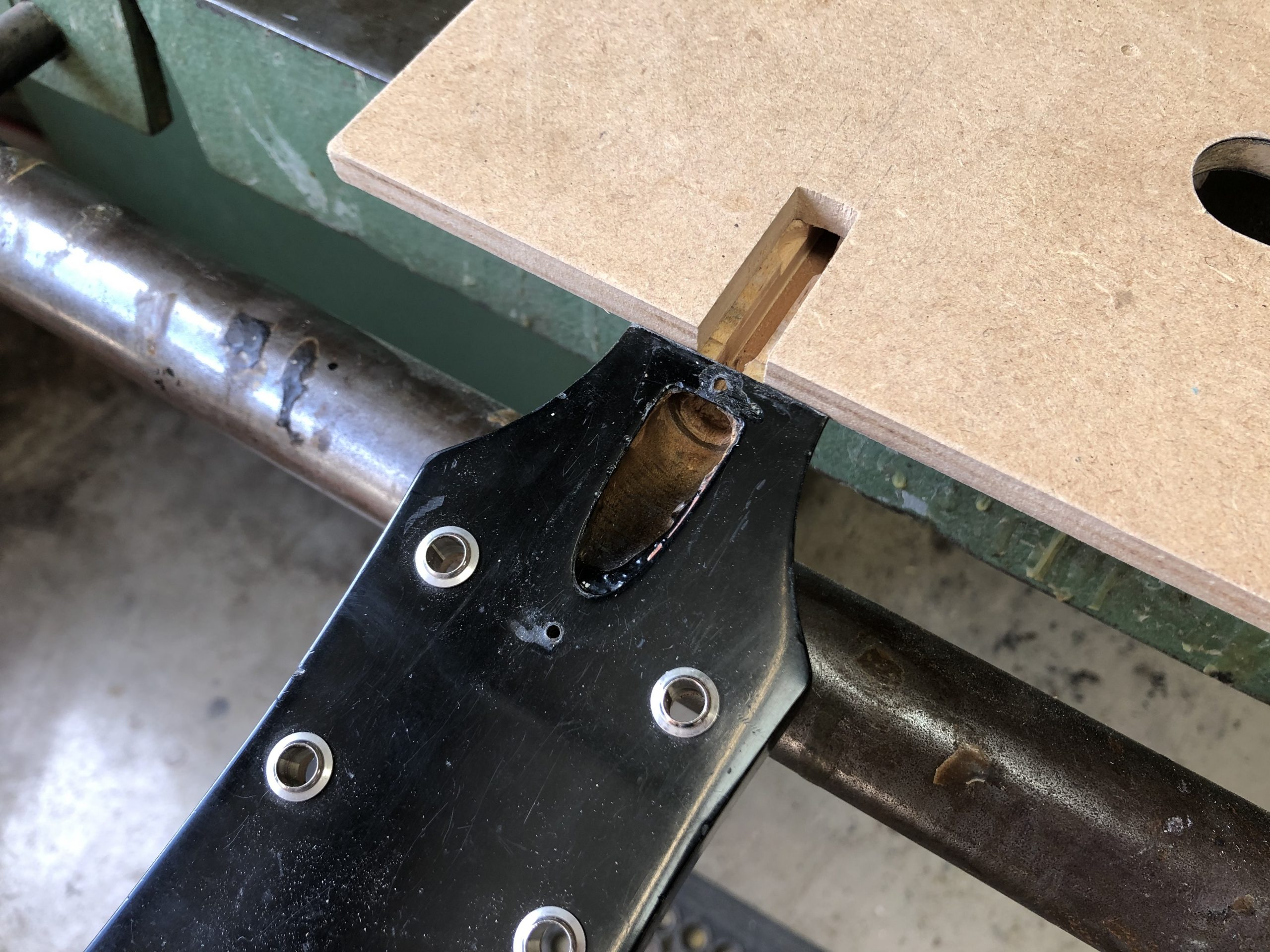 Re-routing the truss rod channel