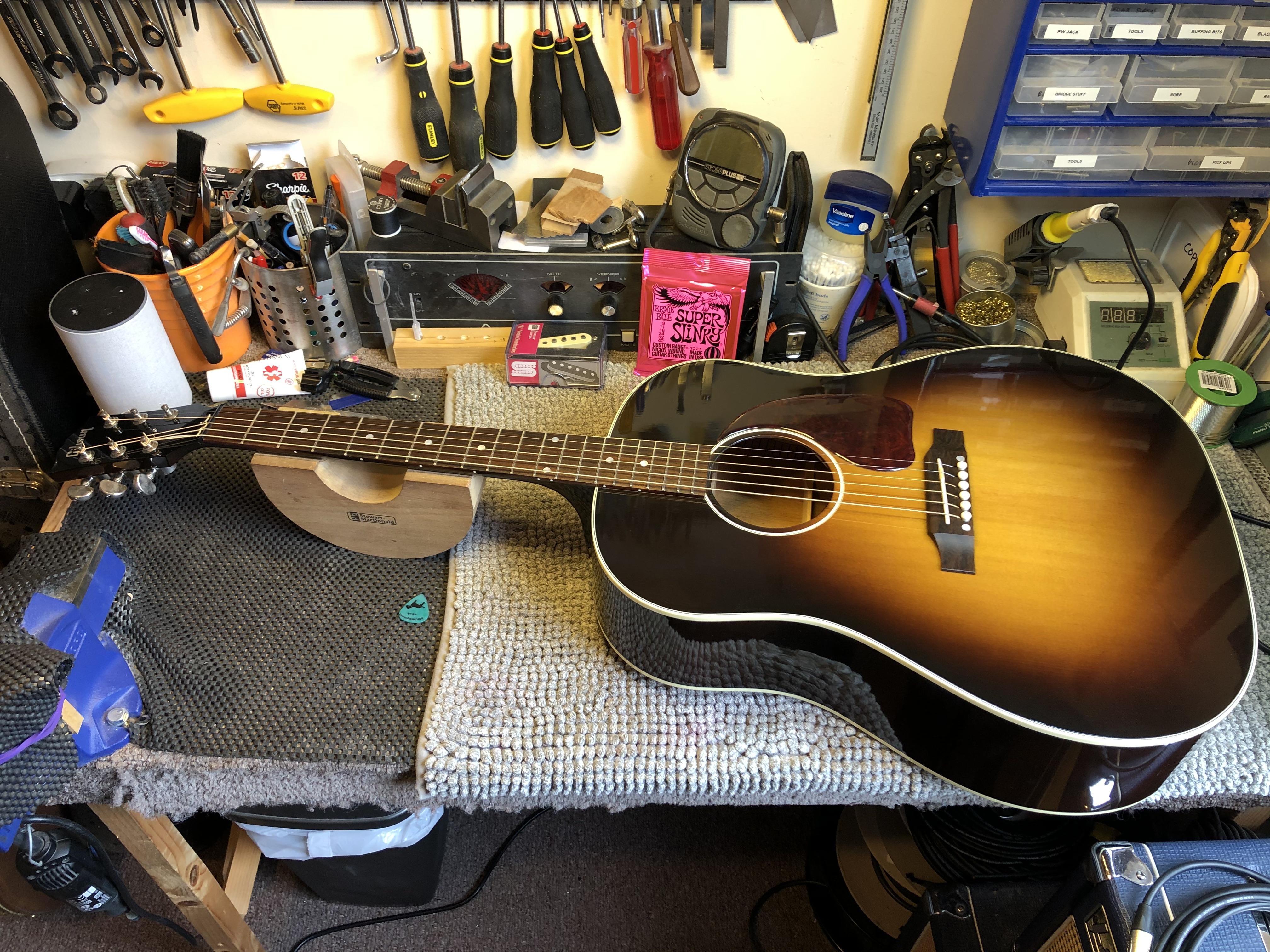 Setup on Gibson J45