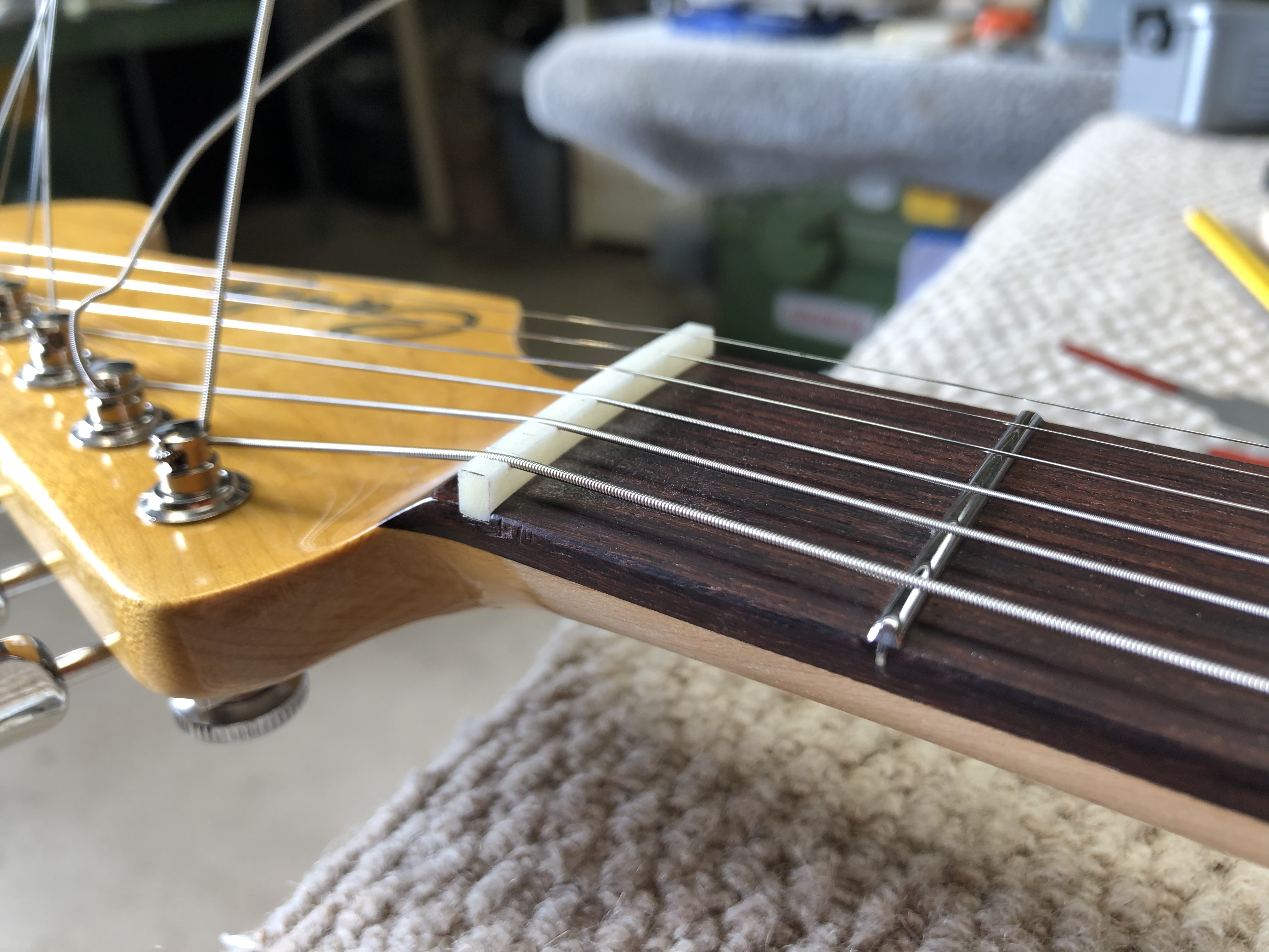 Rough cutting strings