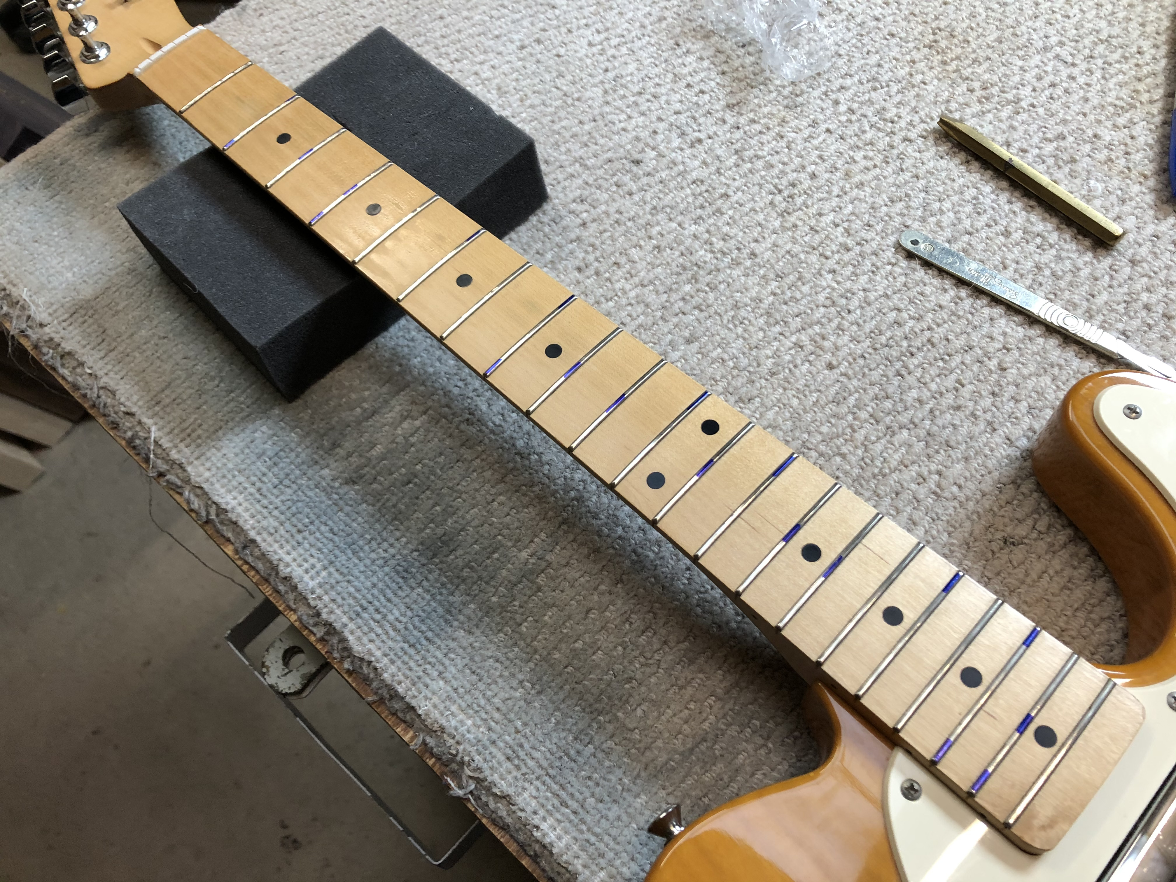 Fret Level on Squire Telecaster