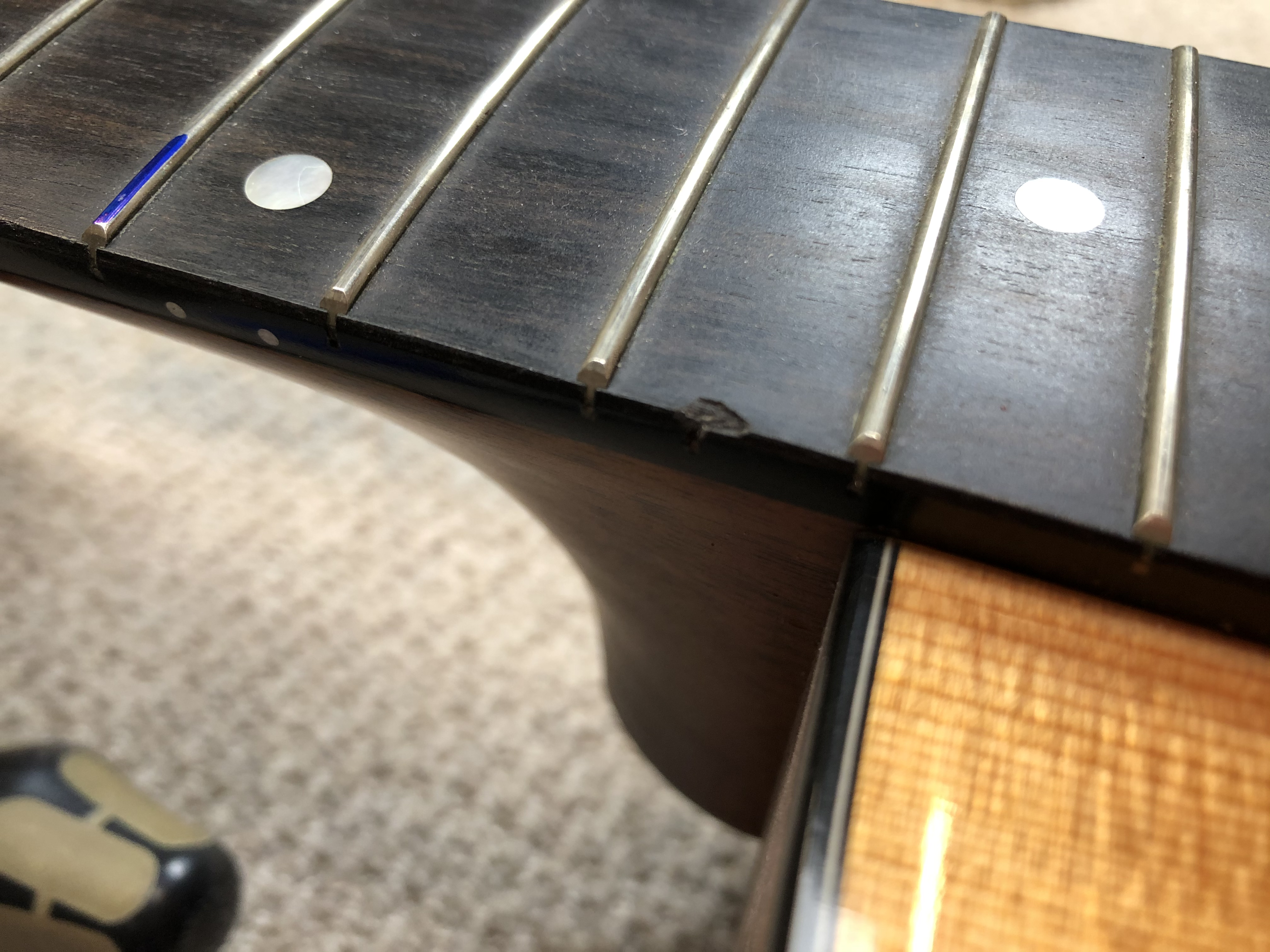 Fret Level and New Nut on Taylor 314CE