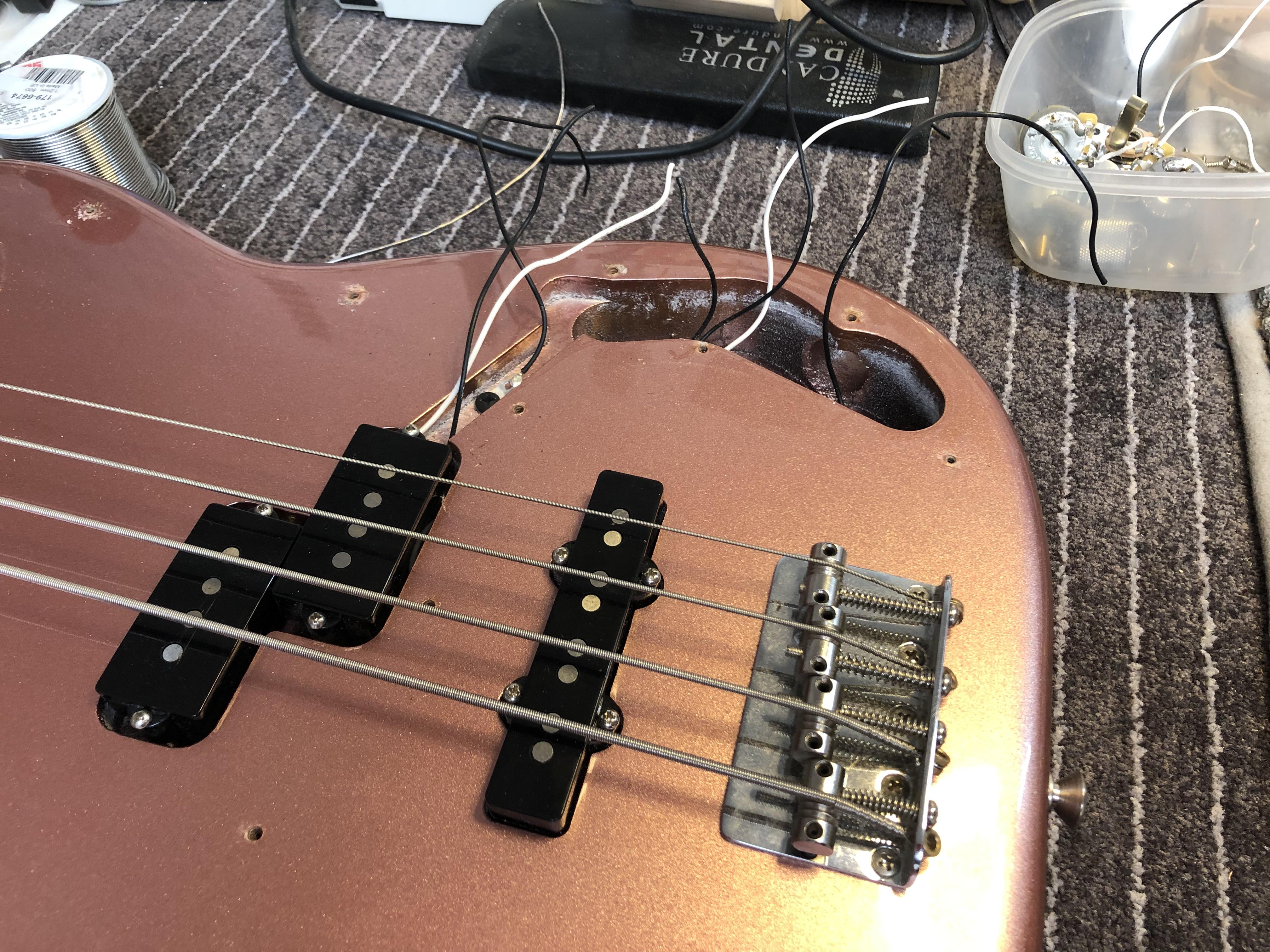 Setup on Fender P J