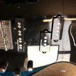 Washburn T-14 Bass new pickup install and setup.