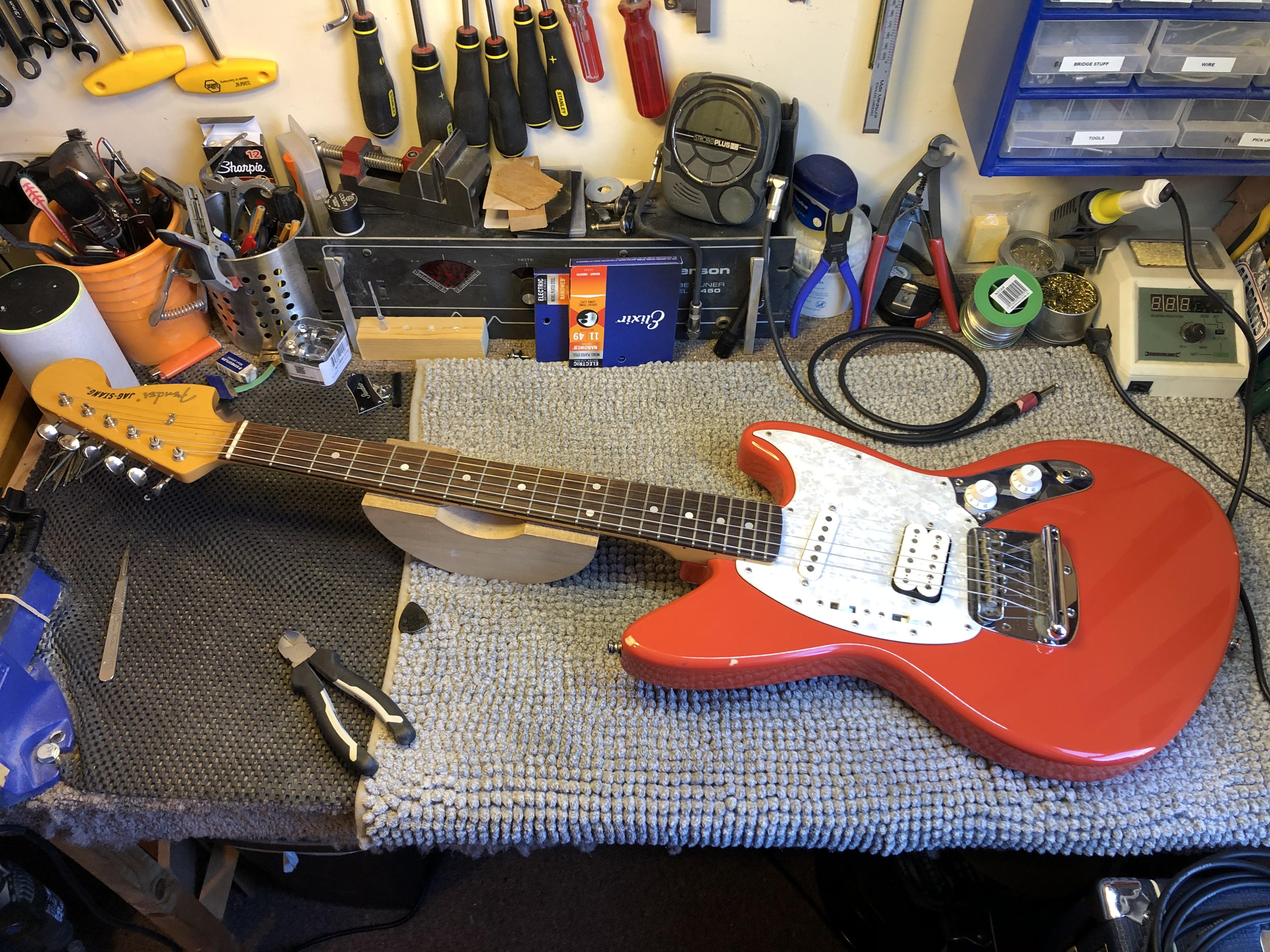 Fender Jag-stang Setup + Wiring Repair