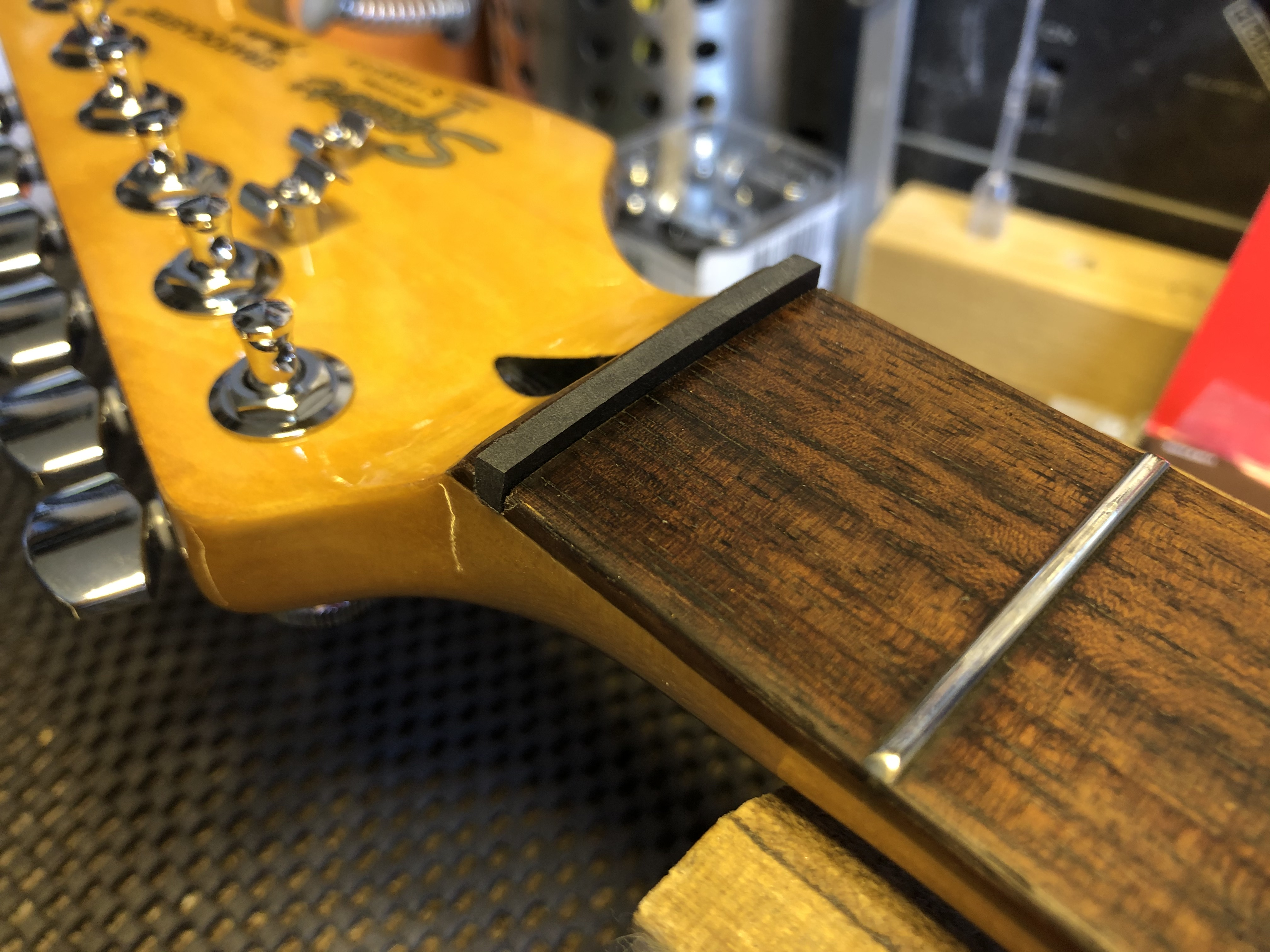 New Nut and Setup on Squire Strat