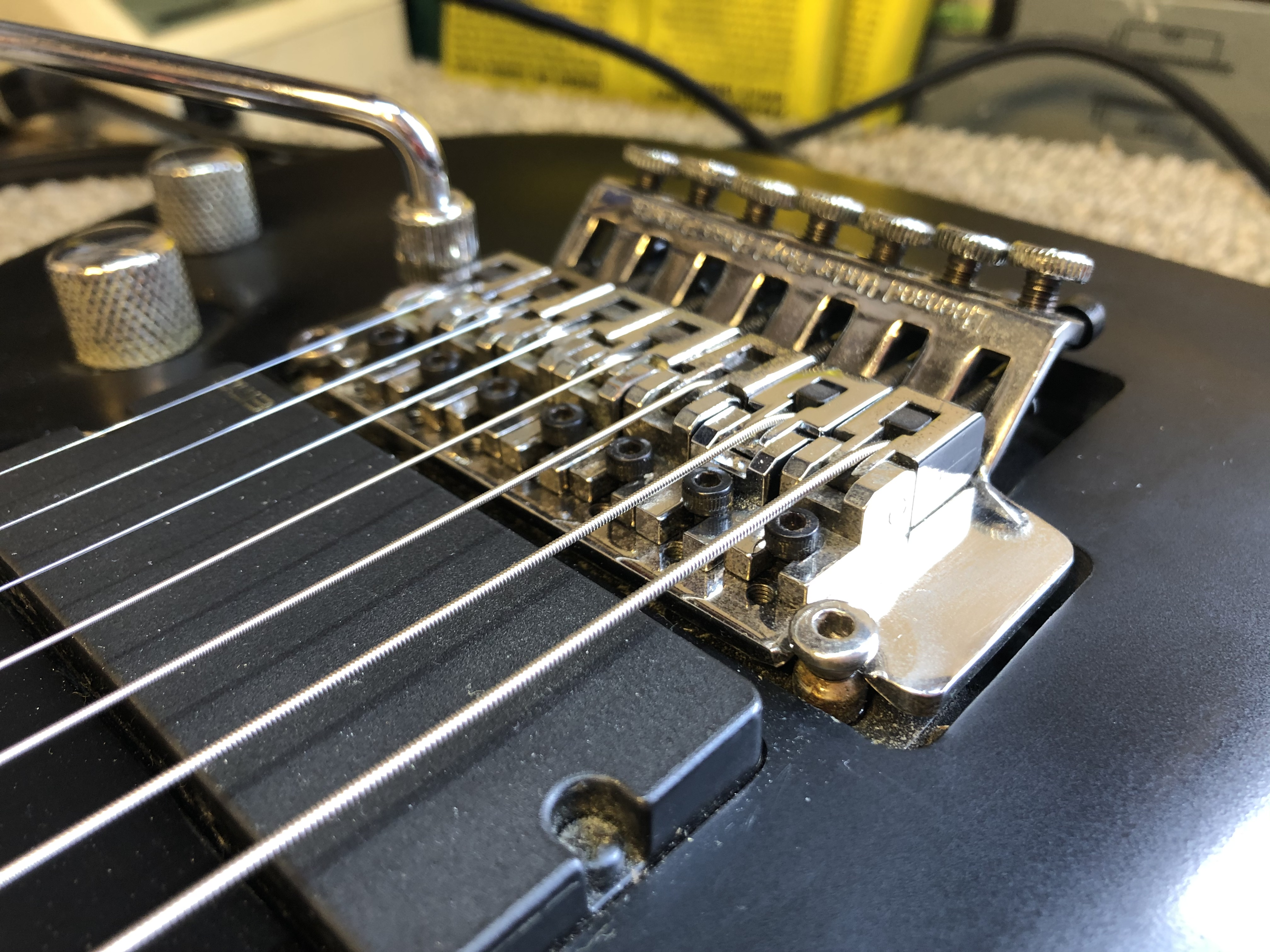 Schecter Demon 7FR Setup and Wiring
