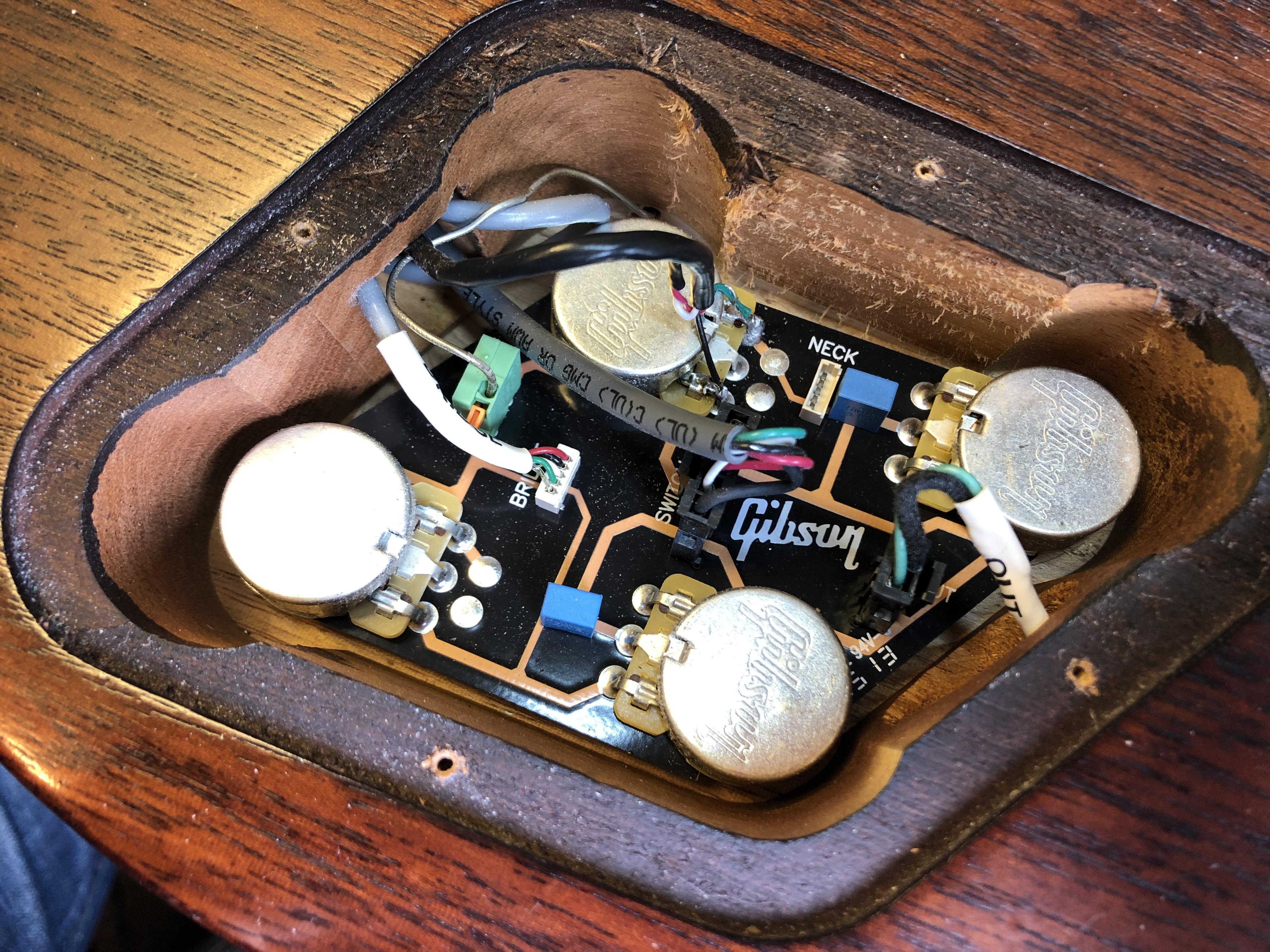 Wiring Repair on Gibson LPJ