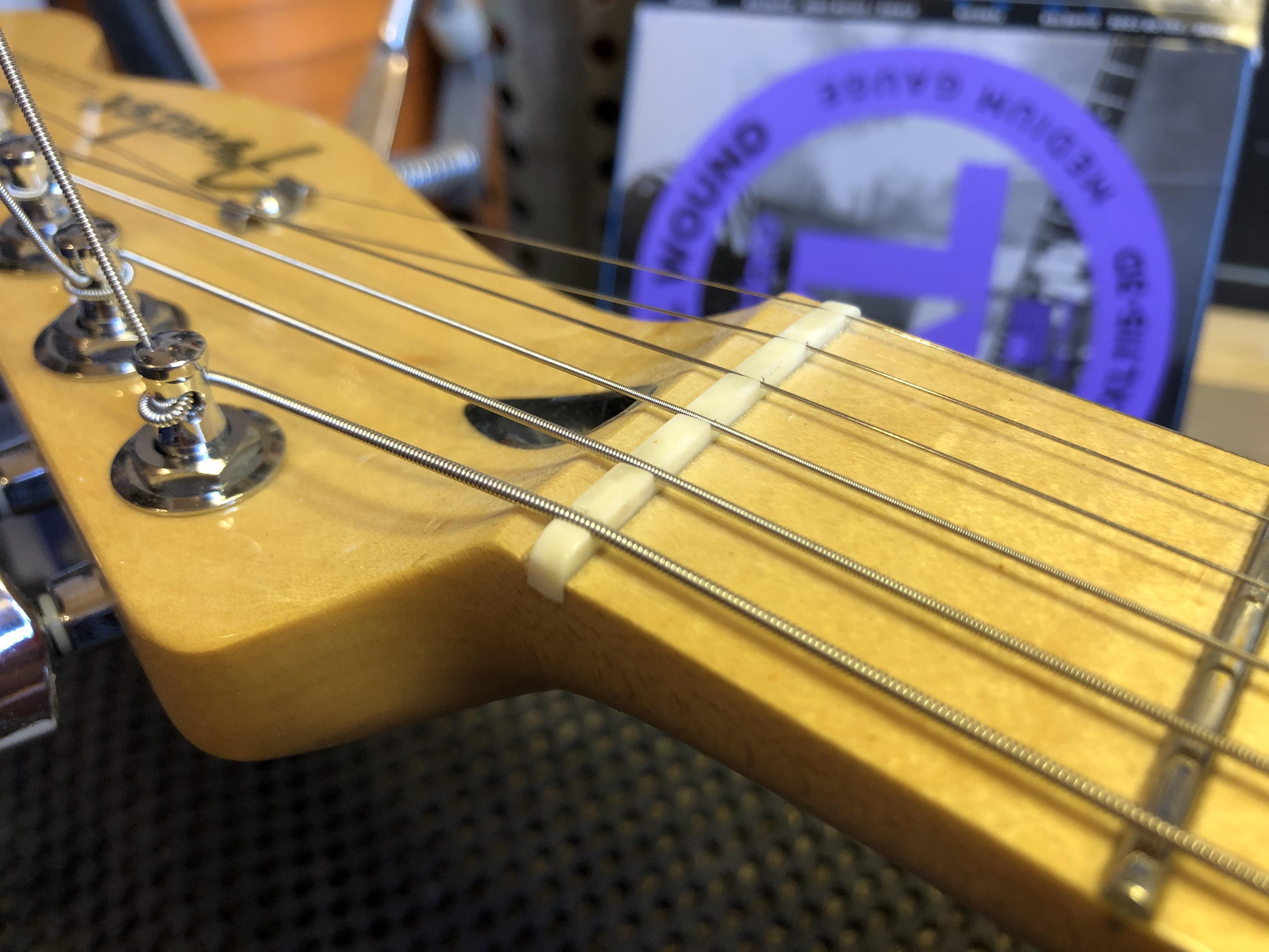 New Bone Nut on Fender Telecaster