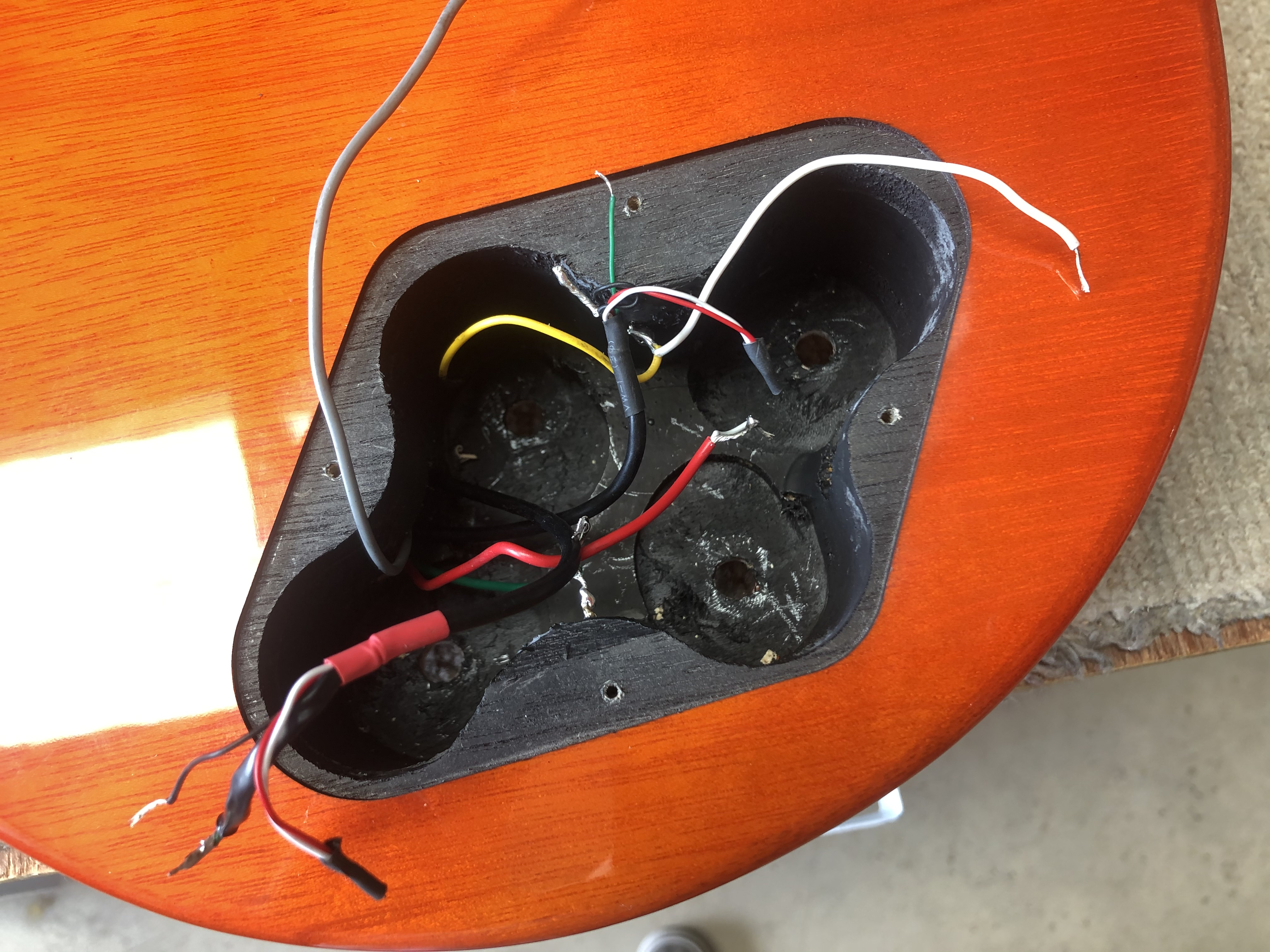 Re-wire and Bone Nut on Vintage LP Copy