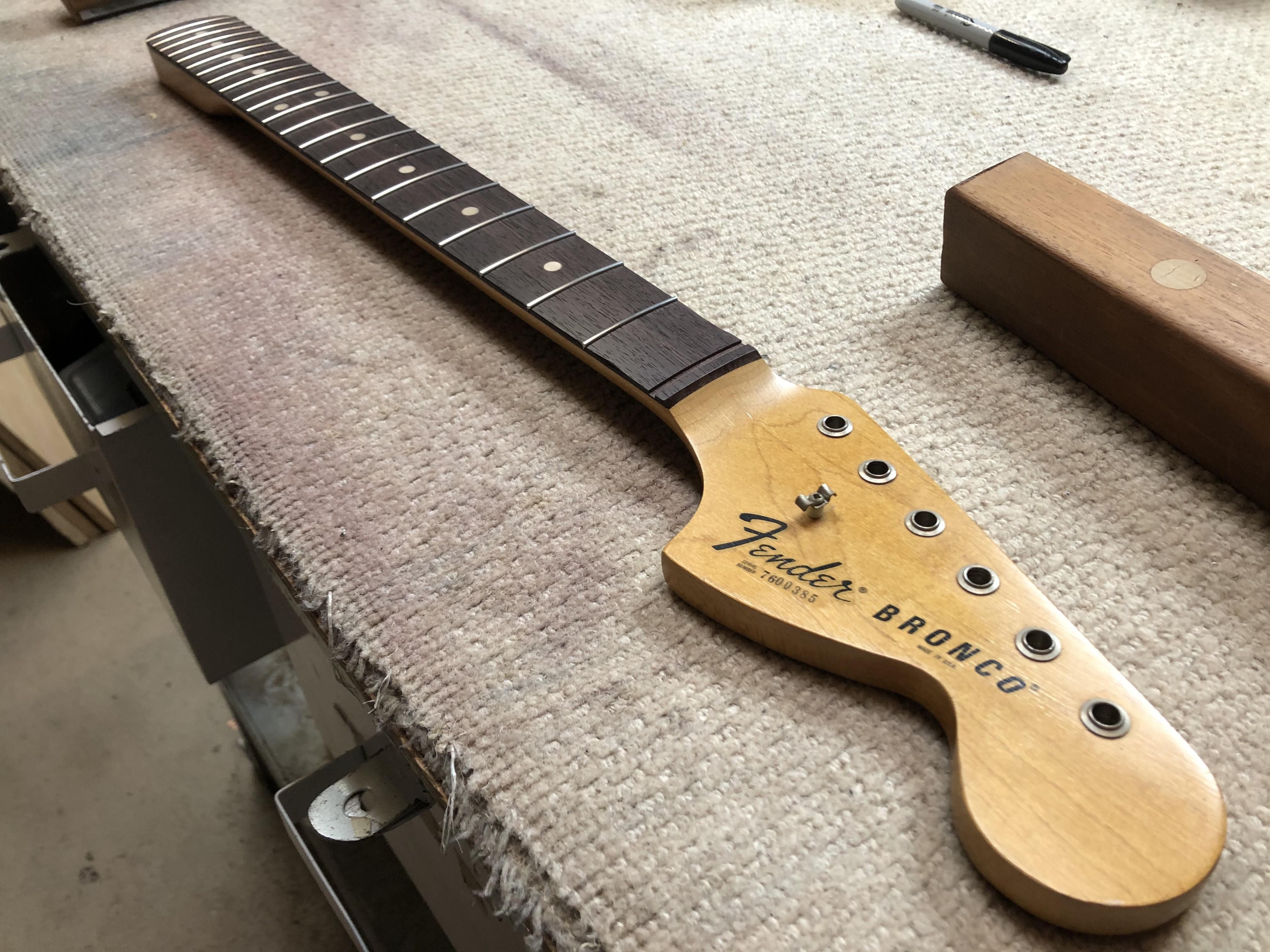 Re-fret on Fender Bronco