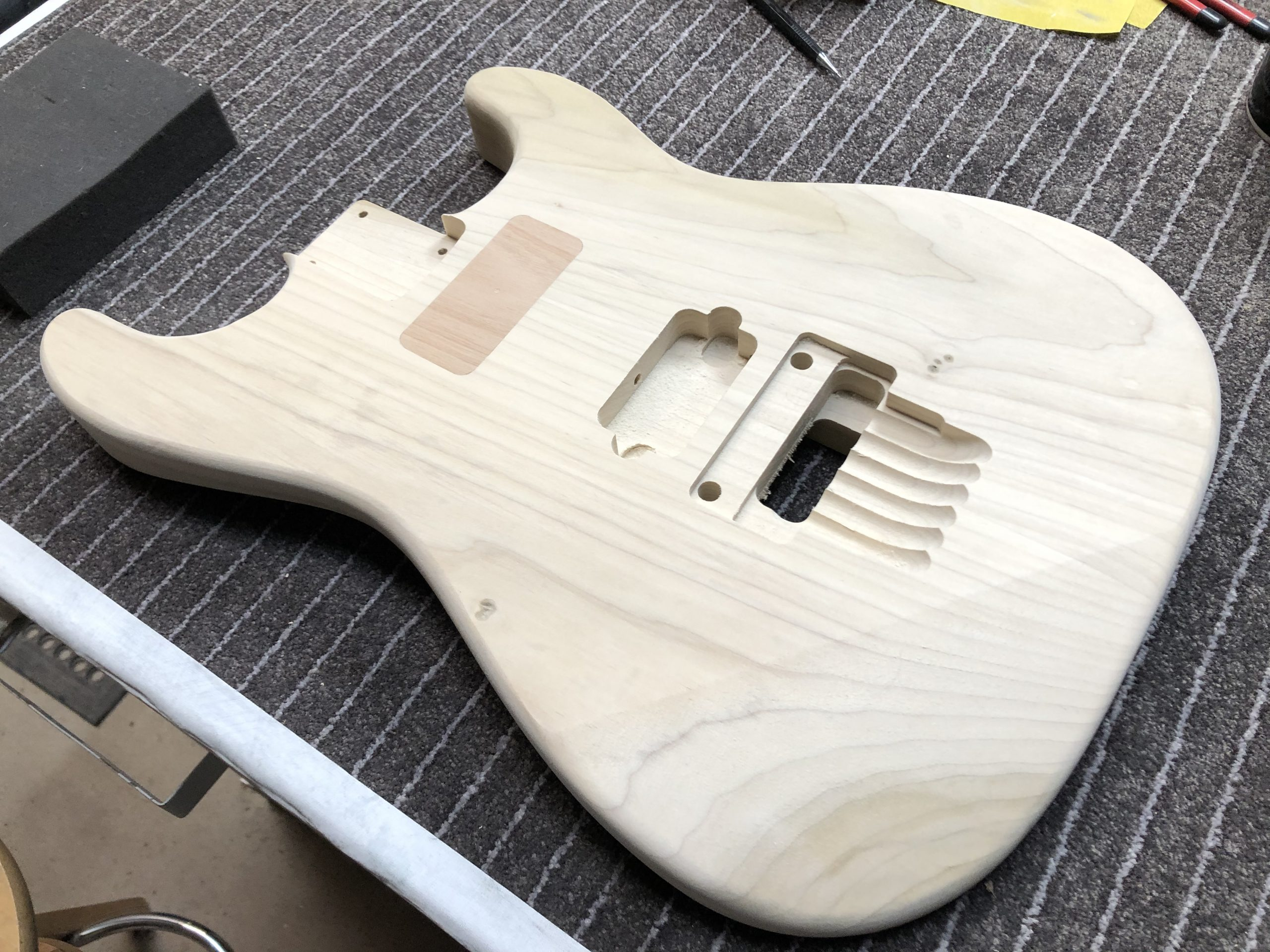 Routing a Guitar Body