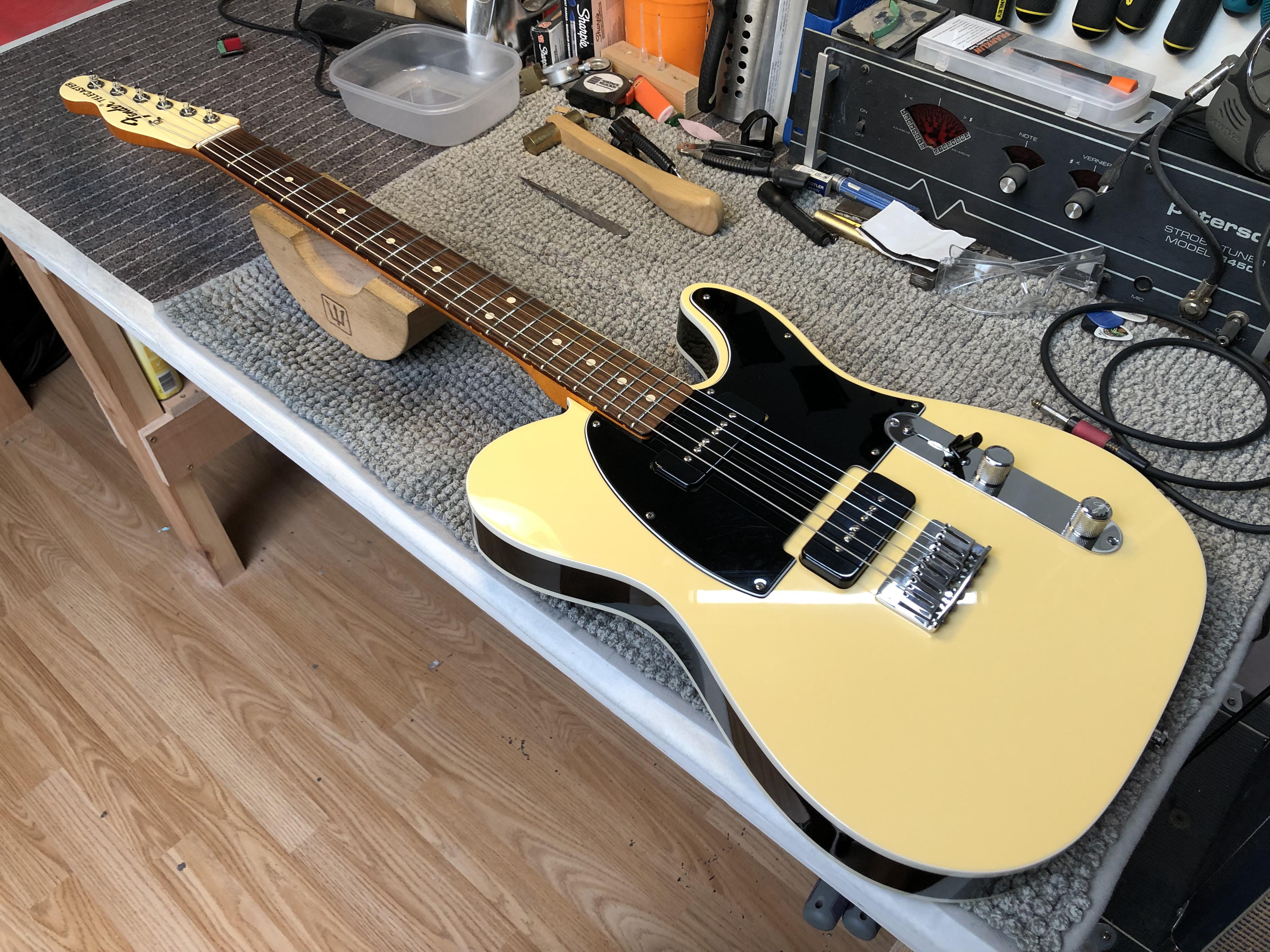 Setup on Custom Shop Fender Telecaster